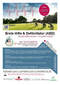 Erste Hilfe & Defibrillator Workshop @ Golf & Country Club Brunstorf